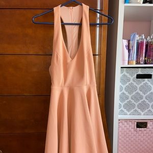 Lulus Peach colored Skater Dress